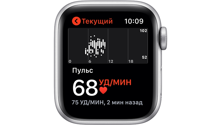 Часы Apple Watch Series 5 GPS 40mm Aluminum Case with Nike Sport Band Pure Platinum/Black MX3R2