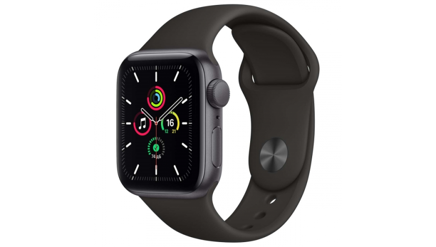 Часы Apple Watch SE GPS 44mm Aluminum Case with Sport Band (Серый космос/Черный) (MYDT2)
